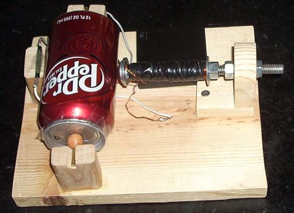 simple homemade electric motor. PEPSI CAN MOTOR Simple Homemade Electric Motor E
