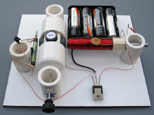 Reed switch motor with transistor simple electric motors for Simple electric motor science project
