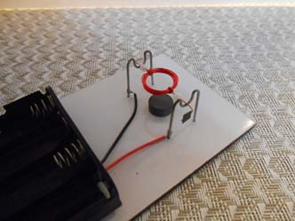 Coil with piece of electrical tape