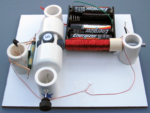 simple electric motor with switch. Motor, Assembled From Kit #4 Simple Electric Motor With Switch R