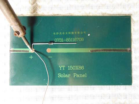Solar panel - Step 1