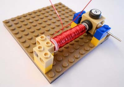 Electromagnet on base plate