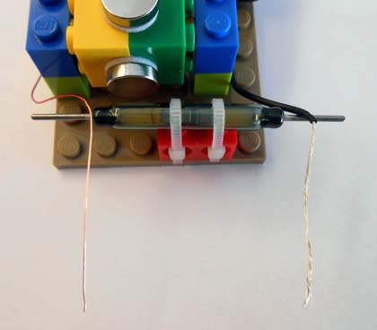 Reed switch on base plate