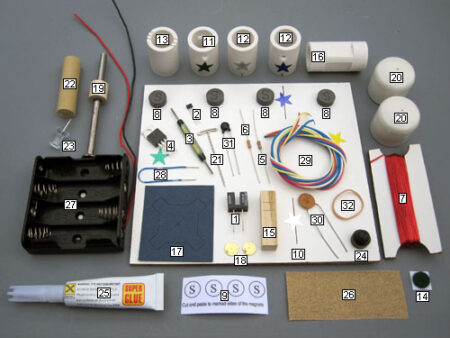 Kit 8 contents