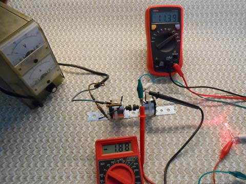 Two generator motors powering LED
