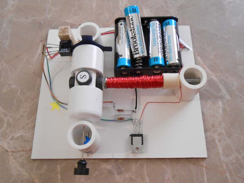 Kit 7 simple electric motors for Simple electric motor science project