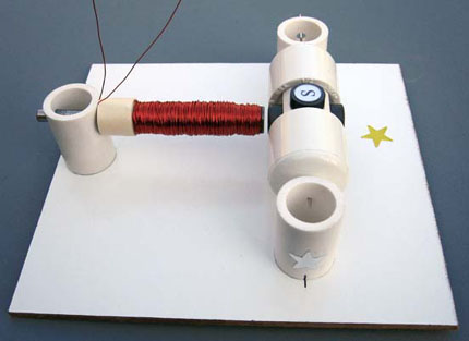 Rotor and electromagnet assembled on board