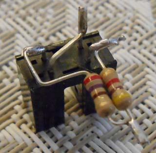 Optointerrupter with resistors