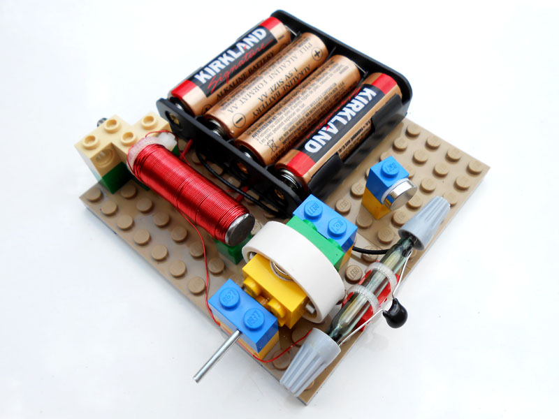 Basic school science simple electric motors for Science projects using motors
